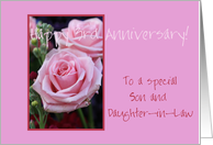 3rd Anniversary son & daughter in law card