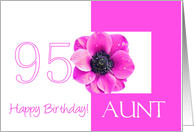 95th birthday for aunt, pink anemone card