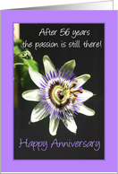 56th Anniversary passion flower card