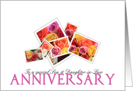 Anniversary son & daughter-in-law, mixed floral bouquet card
