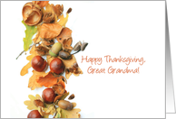 Happy Thanksgiving fall foliage greeting card for Great Grandma card