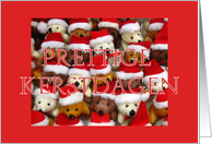 Dutch Merry Christmas Teddy bear card
