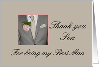 Son Thank you for being my Best Man card