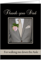 Dad Thank you for walking me down the Aisle card