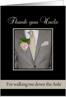 Uncle Thank you for walking me down the Aisle card