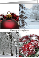 dutch christmas card - Red Winter collage card