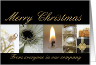 Company Christmas black & White & Gold collage card