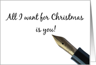 Boyfriend, All I want for Christmas is you! card