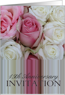15th Anniversary Party Invitation Soft pink roses card
