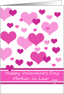 mother in law happy valentine's day Pink Hearts Valentine´s Day card, card