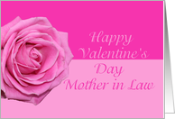 mother in law Pretty Pink Rose Valentine�s Day card