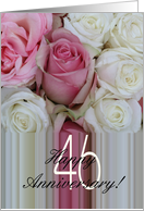 46th Wedding Anniversary Soft Pink roses card