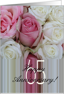 65th Wedding Anniversary Soft Pink roses card