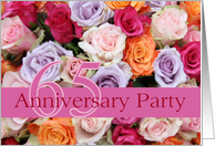 65th Wedding Anniversary Party Invitation - Mixed roses card