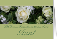 Aunt White rose Sympathy card