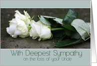 uncle White rose Sympathy card