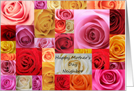 neighbor Happy Mother's Day patchwork roses card