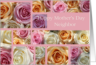 neighbor Happy Mother's Day pastel roses collage card