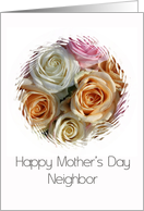 neighbor Happy Mother's Day pastel roses card