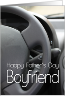 boyfriend Happy Father's Day Steering Wheel card