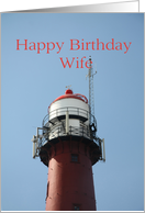Happy birthday wife Vintage lighthouse birthday card