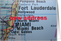 Change of address card - Miami, Florida card