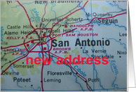 Change of address card - San Antonio, Texas card