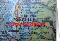 Change of address card - Seattle, Washington card