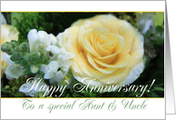 Wedding Anniversary card for Aunt & Uncle - Yellow Rose card