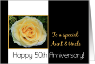 50th Wedding Anniversary card for Aunt & Uncle - Yellow Rose card