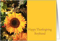 Boyfriend Happy Thanksgiving Sunflower card