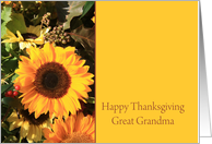 Great Grandma Happy Thanksgiving Sunflower card