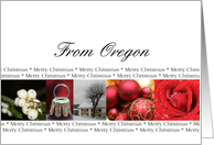 Oregon State specific card red, black & white Winter collage card