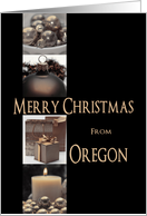 Oregon State specific Merry Christmas card Winter collage card