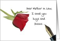 Red Rose Valentine's message to Mother in Law card