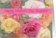 Mother's Day card, mixed bouquet for Neighbor card