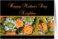 Mother's Day card, Yellow roses for Neighbor card