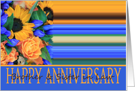 Anniversary for Brother & Sister in Law, Sunflower Bouquet card