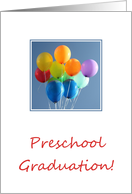 Preschool Graduation Announcement - colorful balloons card