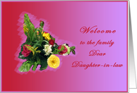 Welcome Daughter-in-law with flowers card