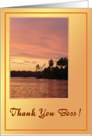 Thank you Boss-Tropical Scenery card