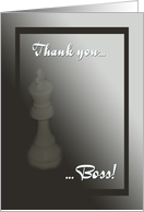 Thank you Boss-White King-Chess card
