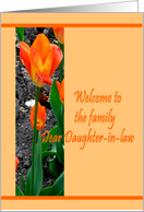 Welcome to Family-Daughter-in-law-Tulip card