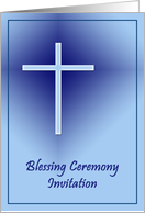 Blessing Ceremony Invitation - blue cross card