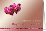 Brother & his Wife-Wedding Anniversary-Hearts card