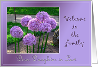 Welcome Daughter in law to the family card