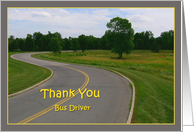 Thank You - Bus Driver card