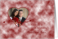 Wedding invitation - photo card with heart card