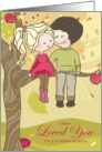 for Wife 25th Anniversary Boy and Girl Illustration card