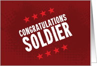 Congratulations Soldier (Promotion Card) card